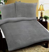 VERATEX Povlečení  Mikrovlákno 70x90-140x200 cm šedé