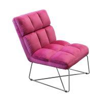 Křeslo ACAPULCO růžový samet IDEA nábytek
