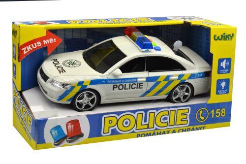 Policejní auto se zvukovými a světelnými efekty včetně baterií (24cm) 33-060/11098A - 8590331110988
