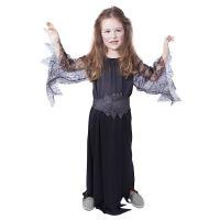 Dětský kostým černá čarodějnice/Halloween (M) (8590687885318)
