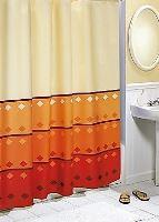 VERATEX Koupelnový závěs 180x200 cm (oranž.geometrie)