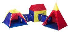 Sada stanů pro děti 5v1 dům + tunely