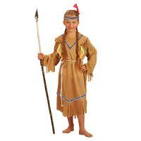 Dětský kostým indiánka s čelenkou (S) (8590687801998)