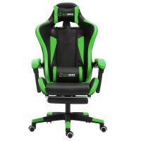 Herzberg HG-8080: Herzberg HG-8080: Ergonomická herní židle ve stylu závodního vozu zelená