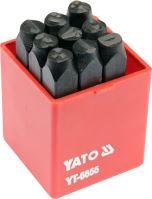 Yato Razidla číselná 8 mm 9 ks  0-9 YT-6855