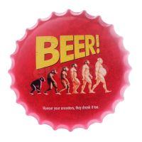 Obraz plechový 40 cm víčko - Beer, Honour your ancestors (8595573184520)