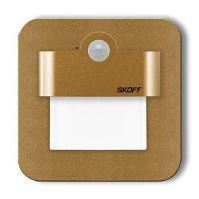 SKOFF LED nástěnné svítidlo s čidlem MJ-SAL-M-H Salsa mat.mosaz(M) teplá(WW,