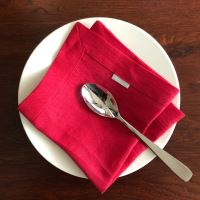 Aesthetic Lněný jídelní ubrousek - mix barev - 100% len, gramáž 185g/m2 Barva: Red