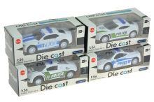 Policejní autíčko 1:56 (8cm) - Mix vzorů, 1ks - 8590331114061