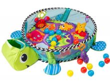 Dětská rohožka pro děti. ŽLUTÁ s kuličkami
