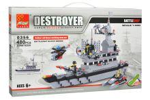 Stavebnice 0356, 480 dílků DESTROYER 1:400 - Bitevní loď - 0356
