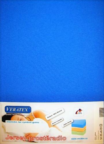 VERATEX Jersey prostěradlo jednolůžko 90x200/25 cm (č. 3-tm.modrá)