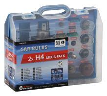 Compass Žárovky 12V servisní box MEGA H4+H4+pojistky 08519