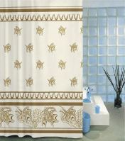 VERATEX Koupelnový závěs 180x200 cm (list béžový)