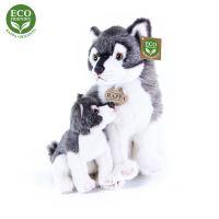 Plyšový vlk s mládětem 27cm ECO-FRIENDLY (8590687320109)