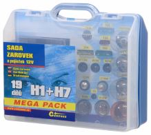 Compass Žárovky 12V servisní box MEGA H1+H7+pojistky 08517