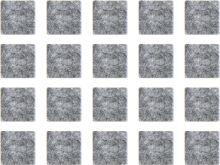 Filcová podložka 100x100 bílá (ks.)