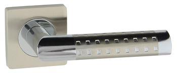 Dveřní dělené rozetové kování GALAXY-QR Klika štít hranatý