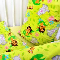 Stanex Dětské ložní povlečení krepové safari zelené (LS313) Dětské ložní povlečení 135x90 + 40x60 - (LS313)
