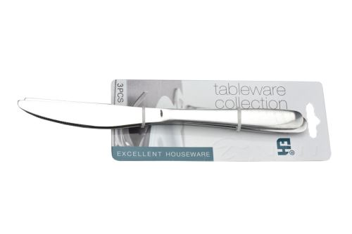 Jídelní nůž z nerezové oceli EH - Set 3ks (22cm) - 8719202850185