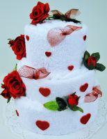 VERATEX Veratex Textilní dort srdce - třípatrový