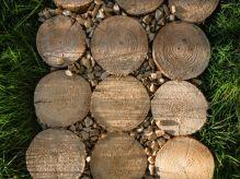 Zahradní chodník dřevěný 30x80 cm