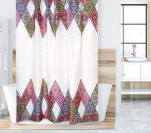 VERATEX Koupelnový závěs 180x200 cm růžová mandala
