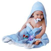 Aesthetic Osuška dětská s kapucí - mix barev- kluk - mikroplyš - bambusové vlákno - 95x95 cm Barva: 304 modrá nebeská