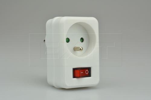 Průběžná zásuvka s vypínačem a dětskou ochranou  SOLIGHT - 8592718002930