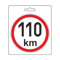 Samolepka omezená rychlost 110km/h (110 mm) 34489