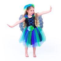 Dětský kostým paví víla (M) (8590687198661)