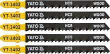 Yato List pilový do přímočaré pily 100 mm na dřevo TPI8 5 ks YT-3402