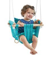 Dvěděti Dětská textilní houpačka 100% bavlna tyrkysová (745178119382)