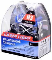 Compass Žárovka 12V  H3  55W Pk22s WHITE LASER  2ks 08563