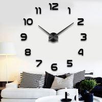 Nástěnné hodiny velké 80-120cm černé 12 číslic