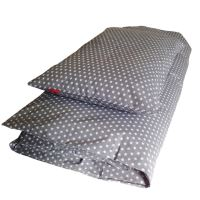 Aesthetic Povlečení bavlněné plátno - STAR bílá na šedé Rozměr: 100x135, 40x60 cm