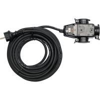 Yato Prodlužovací kabel s gumovou izolací 10m -3zásuvky YT-8116
