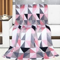 VERATEX Přikrývka Kemping 150x200cm růžové trojúhelníky