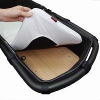 Aesthetic Prostěradlo do kočárku, košíku /matracový chránič - froté s ochranou proti pročůrání - 32x75cm - bílá