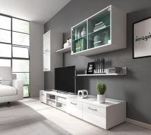 FALCO Obývací stěna Margarita bílý lesk/LED - 0204010402