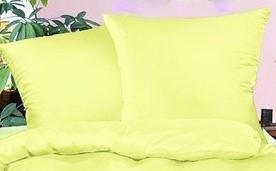 VERATEX Povlak na polštář krep 70x90cm-zip žlutá