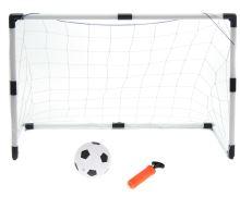 Fotbalové branky pro děti 2v1 (2ks-125x60x92cm / 1ks-233x150x92cm) + míč + pumpa
