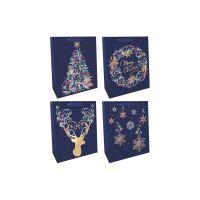 Tmavě modrá dárková taška 0044-0092