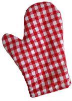 VERATEX Chňapka kuchyňská kanafas červené srdíčko