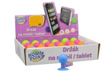 Přísavkový držák na mobil HOME POINT (4cm) - 1ks, mix barev - 8595599106391