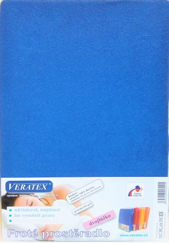 VERATEX Froté prostěradlo 120x220 cm (č. 3-tm.modrá)