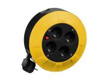 PROTECO - 42.18-KAB004-4 - kabel prodlužovací  4 m  (4 zásuvky), na bubnu  průřez 1,5mm2