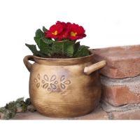 Keramický květináč na bylinky s podmiskou