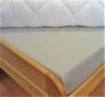 VERATEX Bavlněné prostěradlo postýlka 60x120 cm - (šedé) 100% bavlna