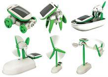 Solární stavebnice - hračka SolarBot skládačka Robot SolarKit 6 v 1